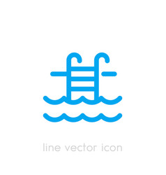 pool icon linear on white vector image