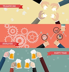 Process of business teamwork vector image