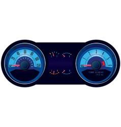 racing car speedometer vector image