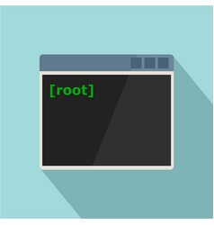 Root window icon flat style vector