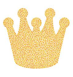 royal mosaic of small circles vector image