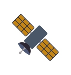 Satellite science space communication icon vector