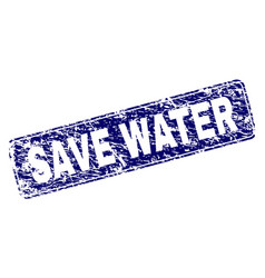 scratched save water framed rounded rectangle vector image