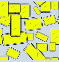 Seamless artistic handphone or mobilephone hand vector