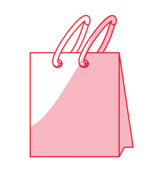 shopping bag isolated vector image vector image