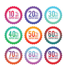 Simple badges of discount stickers vector