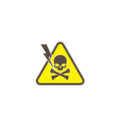 Skull logo danger condition vector