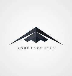 Stealth logo aircraft airplane logotype vector
