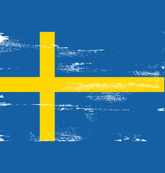 sweden colorful brush strokes painted national vector image