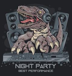 t rex dinosour vector image
