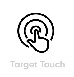 Target touch icon editable line vector