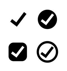 Tick check mark icon vector