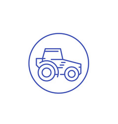 tractor agrimotor line icon vector image