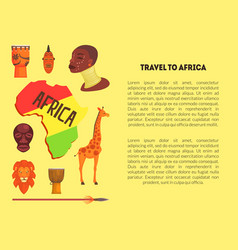 travel to africa banner template with information vector image