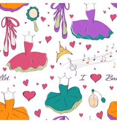 Tutu dress and accessories vector