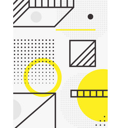 universal trend poster linear geometric shapes vector image