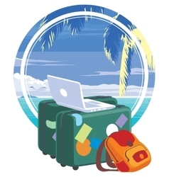 vacation travelling concept vector image