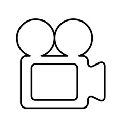 Video camera isolated icon vector