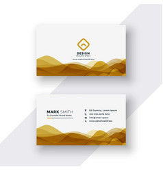 White and golden business card design vector