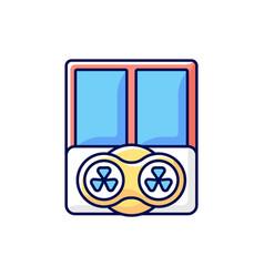 Window fans rgb color icon vector