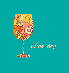 Wineglass poster vector