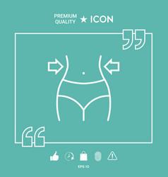 women waist weight loss diet waistline line vector image