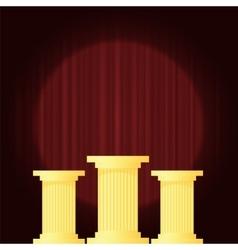 Yellow marble greek vector