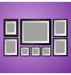 Colorful Wall with empty Picture Frame vector image vector image