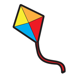 isolated kite toy vector image