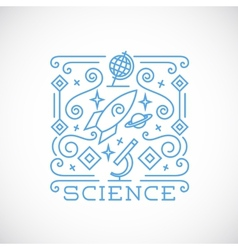 Line Style Science vector image
