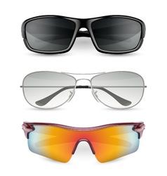 Man sunglasses set vector image vector image