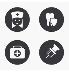 modern medical icons set vector image