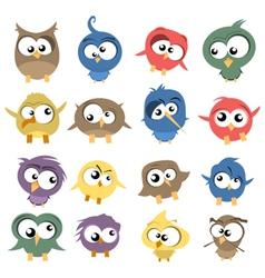 ugly birds vector image vector image