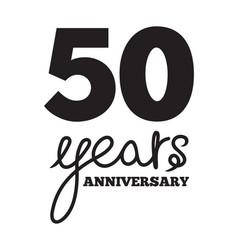 50 years anniversary vector image