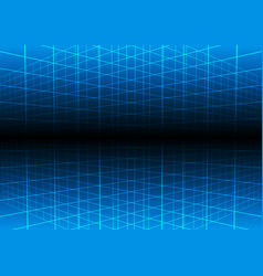 blue grid light technology background vector image