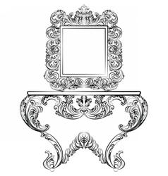 Exquisite Rich Rococo furniture set vector image vector image