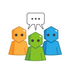 Hexagon Man - Forum vector image