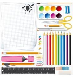 mega school kit vector image
