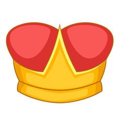 duke crown icon cartoon style vector image