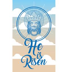 jesus catholicism religion card vector image