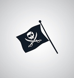 pirate flag flat icon theme vector image