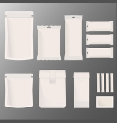 set of blank boxes retail package mockup vector image