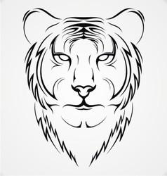 Tribal Tiger vector image vector image
