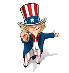 Uncle Sam I Want You Presenting vector image vector image