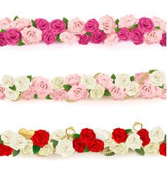Flower Borders vector image vector image
