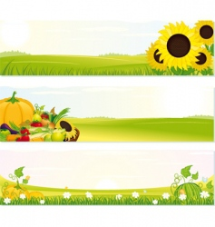 fresh nature banners vector image vector image