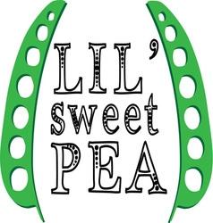 Lil sweet pea vector