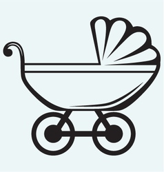 Pram Baby carriage vector image vector image
