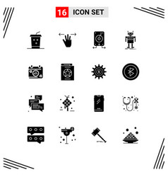 16 user interface solid glyph pack modern vector