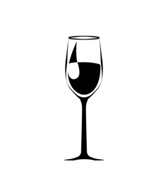 Abstract a big black wineglass isolated vector
